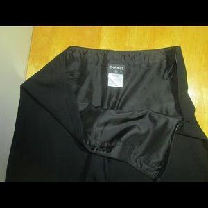 Authentic Chanel Black Wide Leg 94305 Pants sz 44